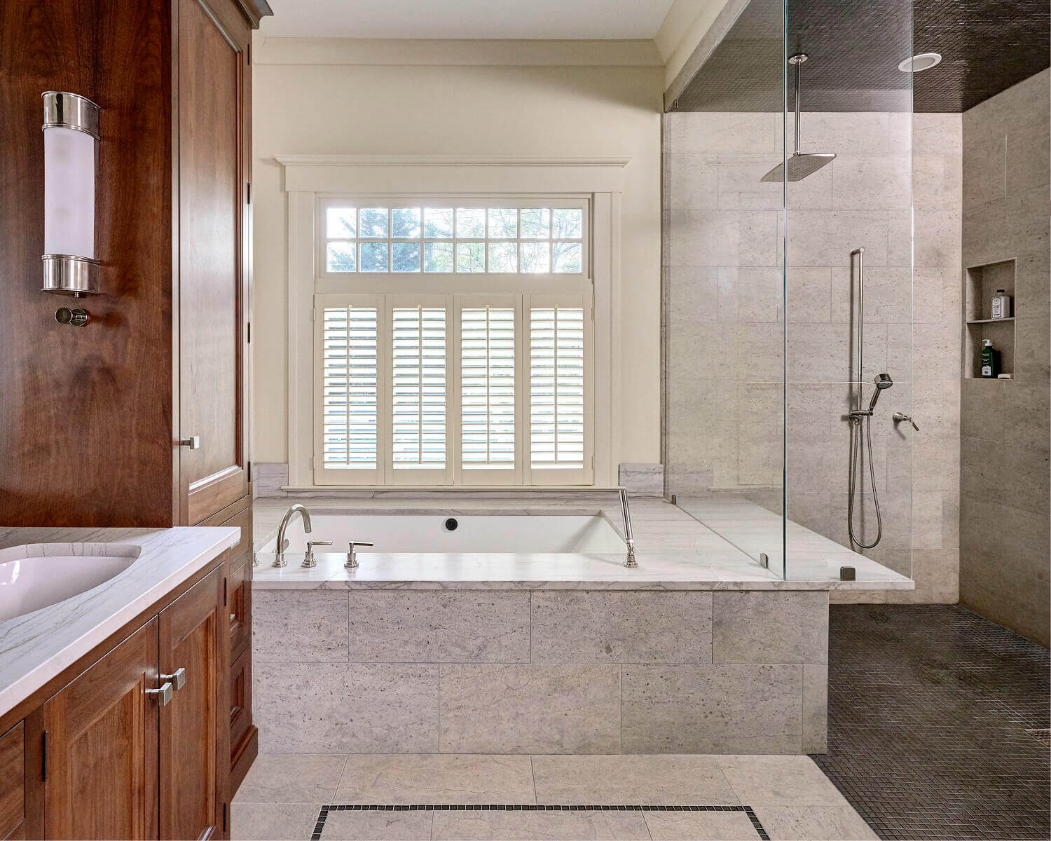 A Bathroom Remodel With Space To Sit And Relax