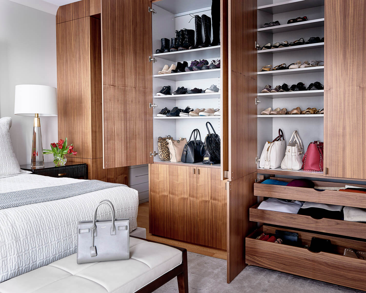 Custom Closet Cabinetry By Bistany Design