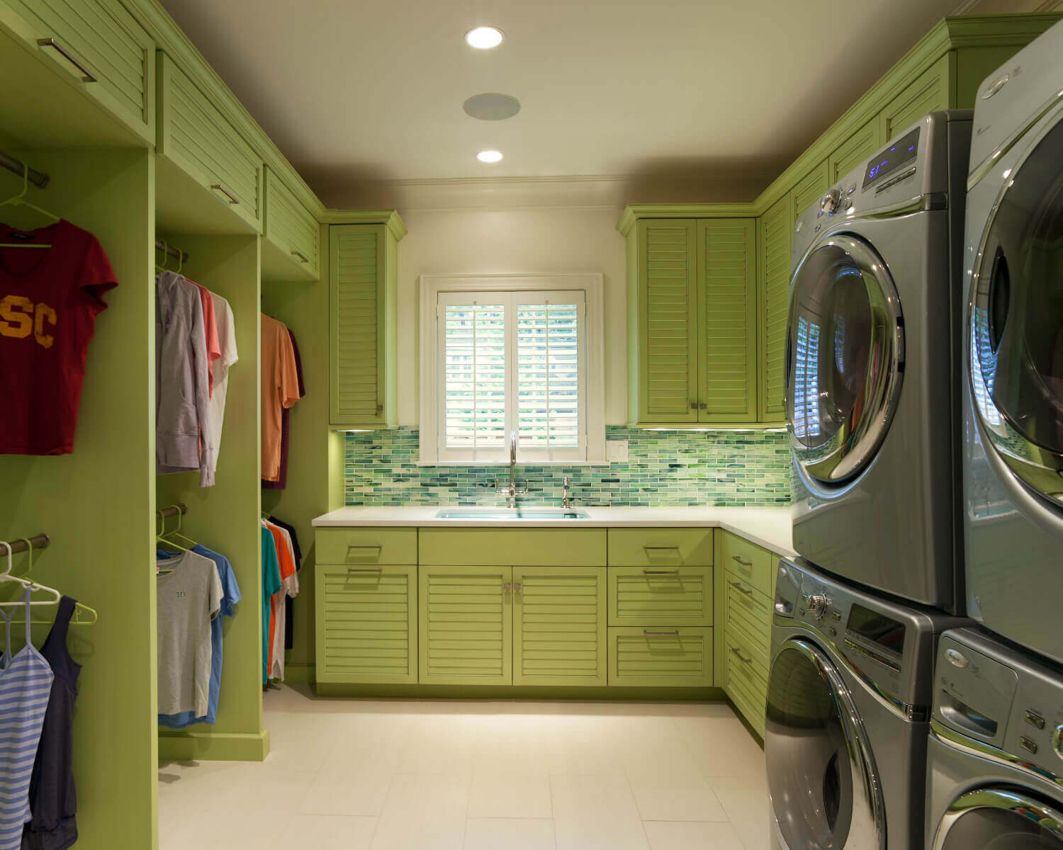 The Perfect And Inspiring Laundry Room With Bright Custom Cabinetry