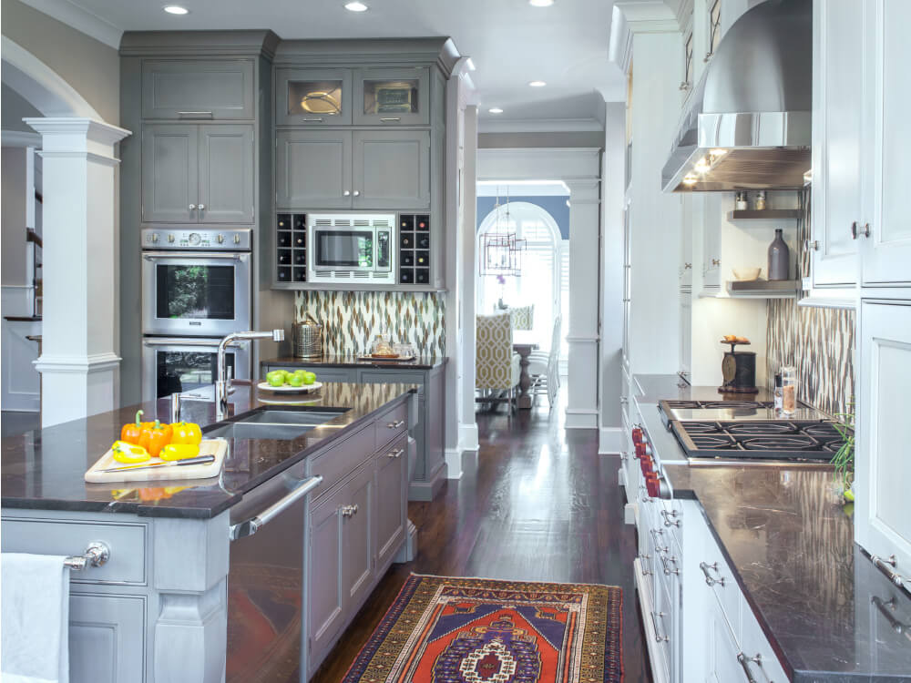 Beautiful Gray Custom Cabinets by Bistany Design