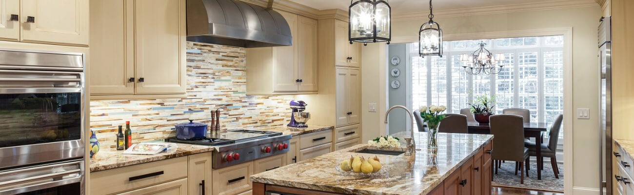 Beautiful Cream Colored Custom Cabinets for Your Kitchen
